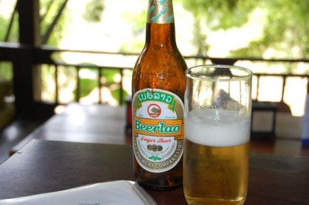 A bottle of Beerlao in Laos
