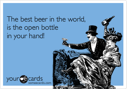 Funny e-card meme about beer