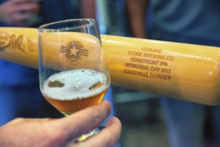 Homefront IPA: beer aged in Louisville Slugger baseball bats