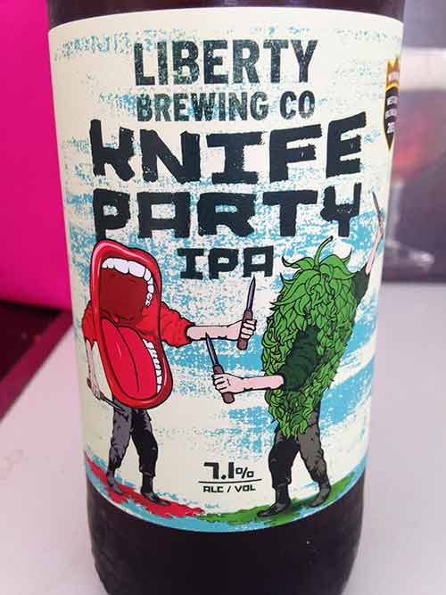 Craft beer review: Knife Party IPA, Liberty Brewing