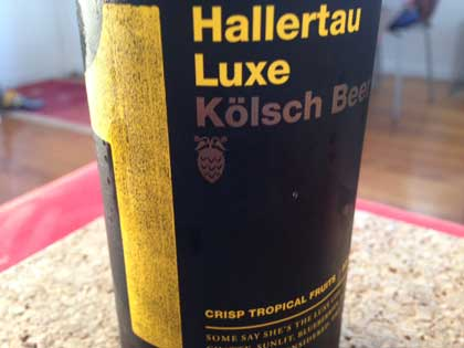 Hallertau Luxe Kolsch beer review