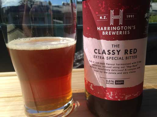 Harrington's Classy Red beer review