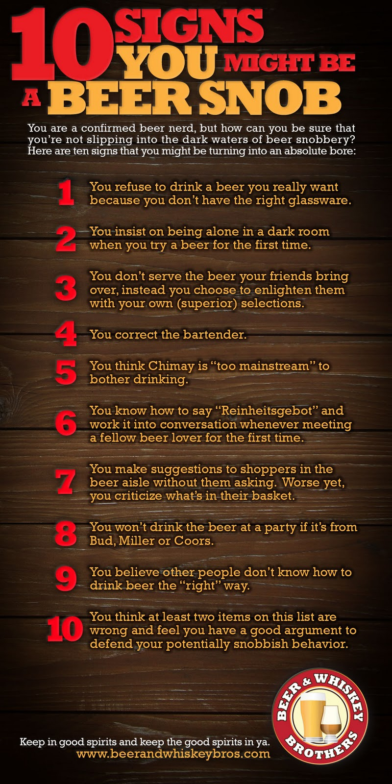 10 signs you might be a beer snob