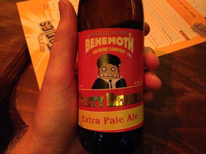Behemoth Tasty Beverage Extra Pale Ale review