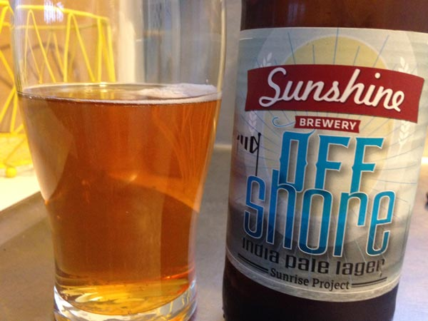 Sunshine Brewery Off Shore India Pale Lager review
