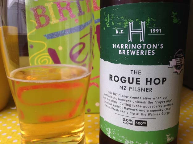 Harrington's Rogue Hop NZ Pilsner
