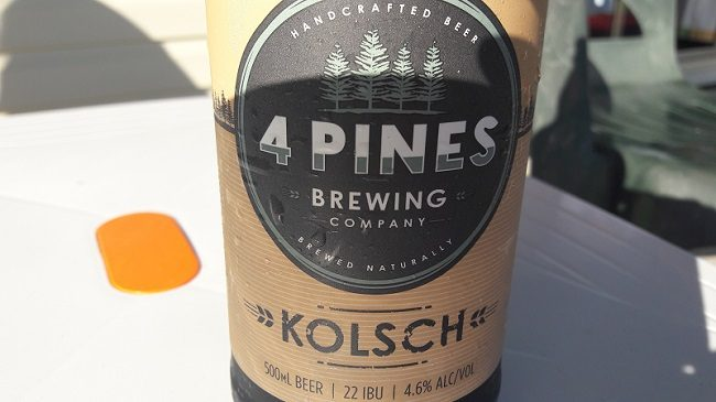 4 Pines Brewing Kolsch Aussie Beer Review