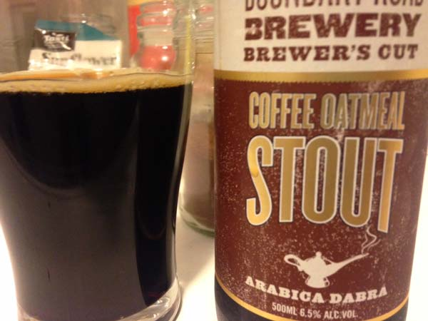 Boundary Road Coffee Oatmeal Stout Review