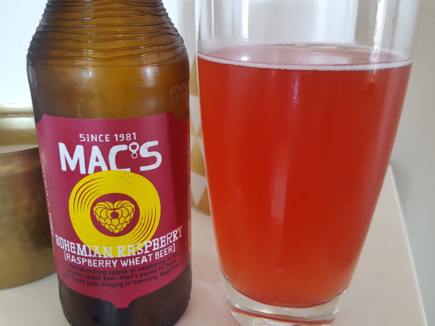 Mac's Bohemian Raspberry Wheat Beer Review